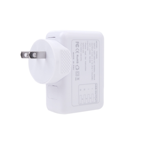 4 USB 5V 2.1A AC Adapter US Plug Wall Charger for iPhone iPad Samsung HTC LG Smartphone Tablet