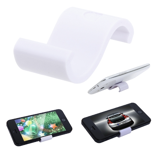 Universal Mobile Phone Display Stand Holder for iPhone Samsung HTC MP4/5 White