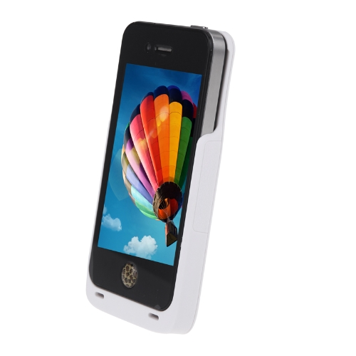 Qi Wireless Charging Receiver Case/Jacket for iPhone 4S/4 White