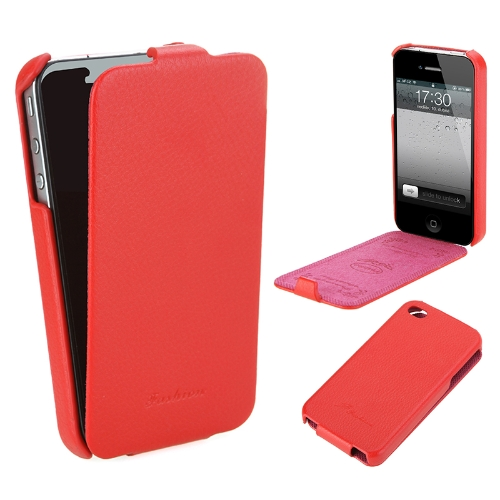 Genuine Leather Case for iPhone 4/4s Red