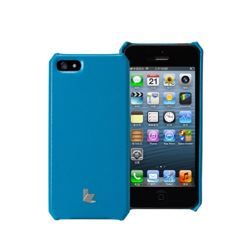 Jisoncase genuíno caso tampa de couro para iPhone 5