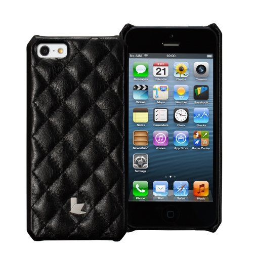 Jisoncase Matelasse Genuine Leather Case per iPhone 5