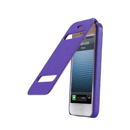 Jisoncase Flip clássico protetora caso capa para iPhone 5