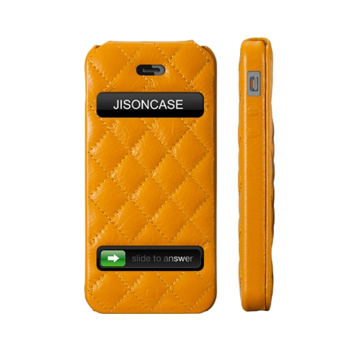 Jisoncase-Flip-Matelasse-Leather-Case-Cover-for-iPhone-5