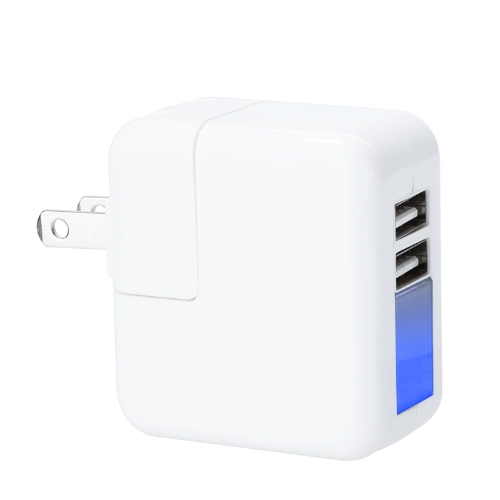 Mini 2 Interfaces USB Universel Ataptateur d'Alimentation  Chargeur mural /voyage pour iPhone iPad Smart Phone Tablet  5V 2.1A US Prise