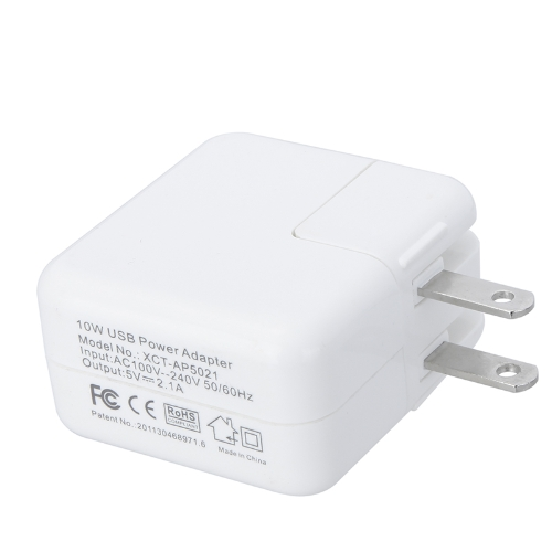2 Ports USB Power Adapter Wall-Travel Charger 5V 2.1A