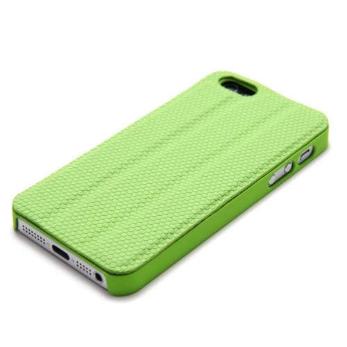 Magnético adsorção Mobile Shell protetora cobrir multifuncional de dobramento titular volta caso auscultadores bobina para iPhone 5 verde