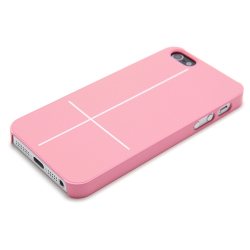Magnetyczny Adsorpcja Mobile Shell Osłona Wielofunkcyjny składany uchwyt Back Case słuchawkowe Szpula Winder dla iPhone 5 Różowy