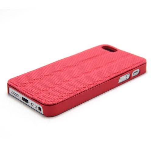Magnético adsorção Mobile Shell protetora cobrir multifuncional de dobramento titular volta caso auscultadores bobina para iPhone 5 vermelho