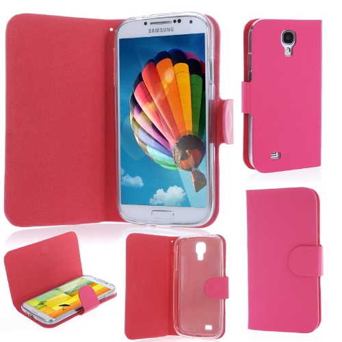 Elegant Artificial Leather Flip Case Cover for Samsung Galaxy S4 i9500/i9505 Rose
