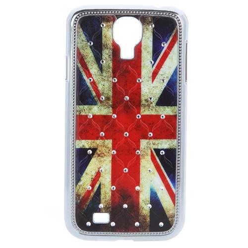 douself UK bandiera Designo Custodia Cassa copertura dura con strass per Samsung Galaxy S4 i9500/i9505