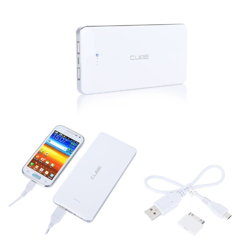 Cubo E12A 12000mAh Mobile Power Bank portatile caricabatterie Dual USB Output 2.1 a (Max) per Tablet PC iPhone Samsung HTC