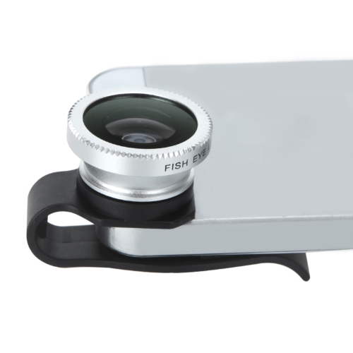 Detachable Clip-on 180° Degrees Telephoto Fisheye Lens Fish Eye for Mobile Phones iPhone 4 4S