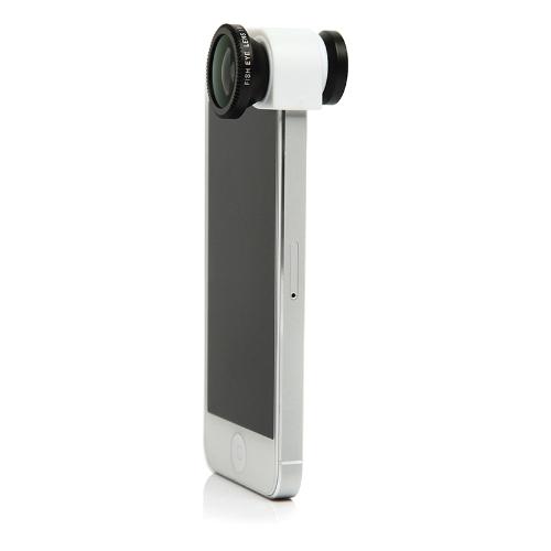 3 em 1 telefone foto câmera lente Fisheye Macro 0,67 X Wide Angle para iPhone 5 de 180° 5S branco
