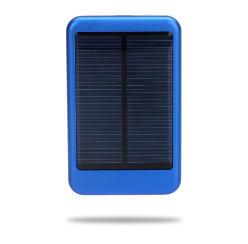 5000mAh Solar Mobile Power Portable External Battery Charger Universal for iPhone iPad Samsung Smartphones Blue