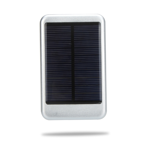 5000mAh Solar Mobile Power Portable External Battery Charger Universal for iPhone iPad Samsung Smartphones Silvery
