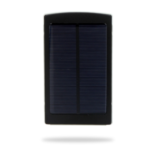 10000mAh External Solar Charger Mobile Power Universal for iPhone iPad Samsung NokiaSmartphones Portable Black