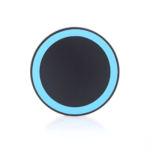 Mini Qi Wireless Charger Transmitter Pad for iPhone 6 6S 6 Plus 6S Plus Samsung Galaxy Note4 Note5 Note edge S6 S6 edge S6 edge Plus LG G4 Xiaomi Note Pro Huawei Mate 7 P7 P8 Smartphone Ultrathin Slim Black+Blue