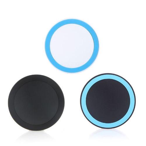 Mini Qi Wireless Charger Transmitter Pad for iPhone 6 6S 6 Plus 6S Plus Samsung Galaxy Note4 Note5 Note edge S6 S6 edge S6 edge Plus LG G4 Xiaomi Note Pro Huawei Mate 7 P7 P8 Smartphone Ultrathin Slim White+Blue PA1549BL2