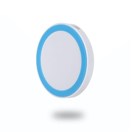 Mini almofada de transmissor Qi Wireless carregador para iPhone 6 6S 6 Plus 6S Plus Samsung Galaxy OBS4 Note5 nota de borda S6 S6 S6 borda Plus LG G4 Xiaomi nota Pro Huawei companheiro 7 P7 P8 Smartphone Ultra Slim branco + azul