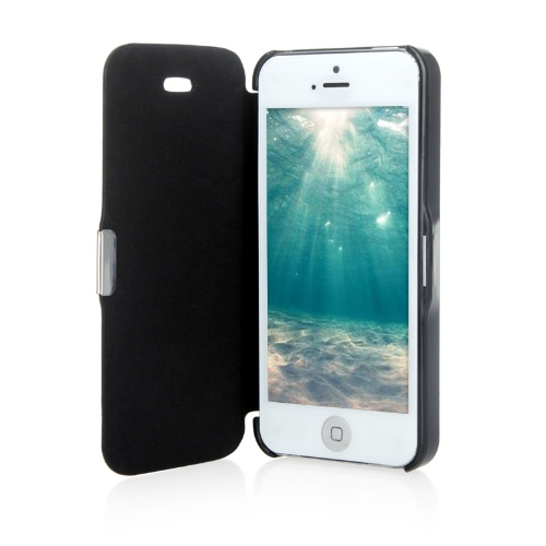 Magnetic Leather Flip Hard Full Case Cover for iPhone 5 5S Black