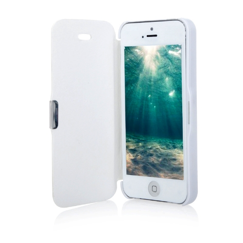 Magnetic Leather Flip Hard Full Case Cover for iPhone 5 5S White
