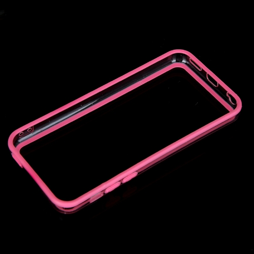 Colorful TPU+PC Bumper Frame Case Cover for Apple iPhone 5C Pink