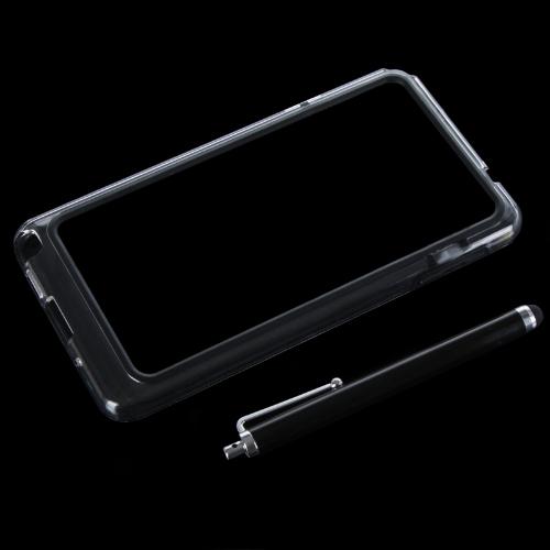 TPU coloré + PC Frame pare-chocs housse Samsung N9000 Galaxy Note3 + Stylus Pen noir
