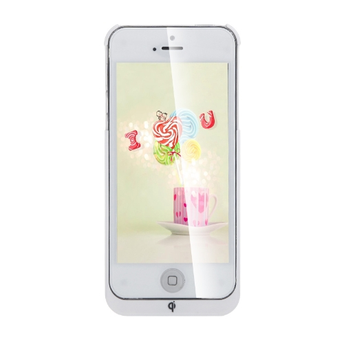 Qi Wireless Charging Receiver Case/Jacket for iPhone 5s 5 White