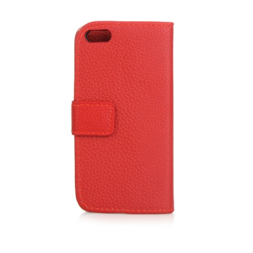 Fashion Card Holder Wallet Leather Case Flip Stand Cover for iPhone 5S 5C 5 Red