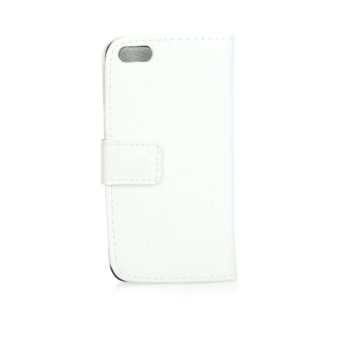 Fashion Card Holder Wallet Leather Case Flip Stand Cover for iPhone 5S 5C 5 White