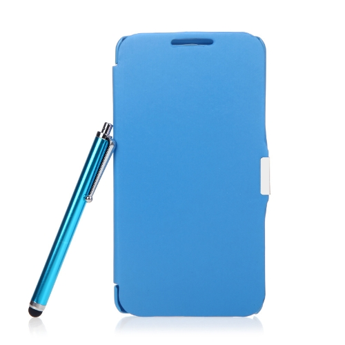 Magnetic Flip Leather Hard Full Case Cover for Samsung N9000 Galaxy Note3+Stylus Pen+Screen Film Blue