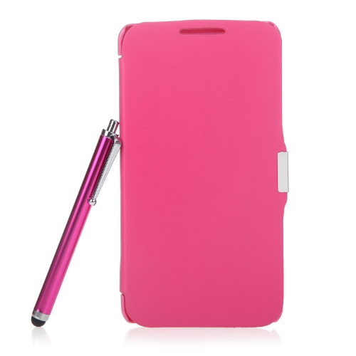 Couro de aleta magnética de completo caso capa dura para Samsung N9000 Galaxy Note3 + Stylus caneta + tela filme Rose