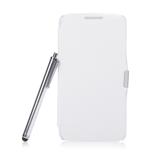 Magnetic Flip Leather Hard Full Case Cover for Samsung N9000 Galaxy Note3+Stylus Pen+Screen Film White