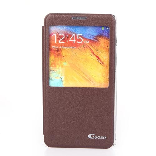 Флип Smart View PU кожаный чехол для Samsung Galaxy Note3 N9000 Браун