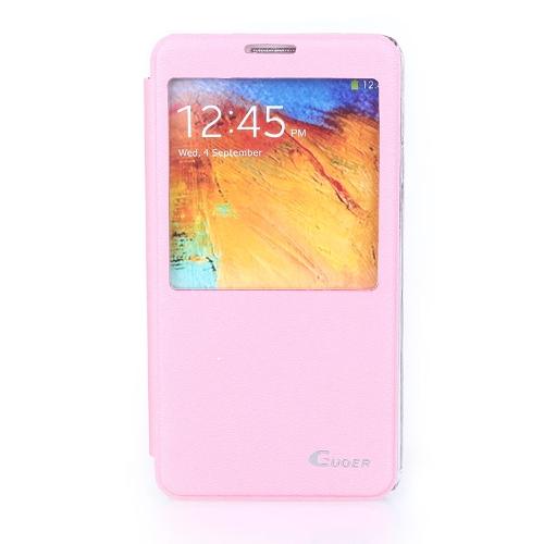 Flip Smart View PU couro caso capa para Samsung Galaxy Note3 N9000 rosa
