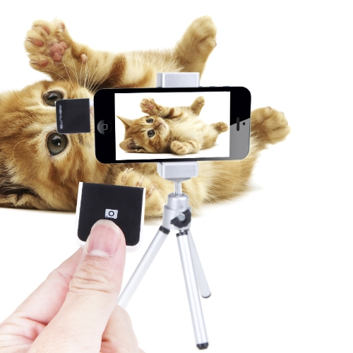 Wireless Remote Control Photo/Video Recording RF Shutter Holder Tripod Kit for iPhone 4/4s/5s/5c iPad2/mini iPod Touch
