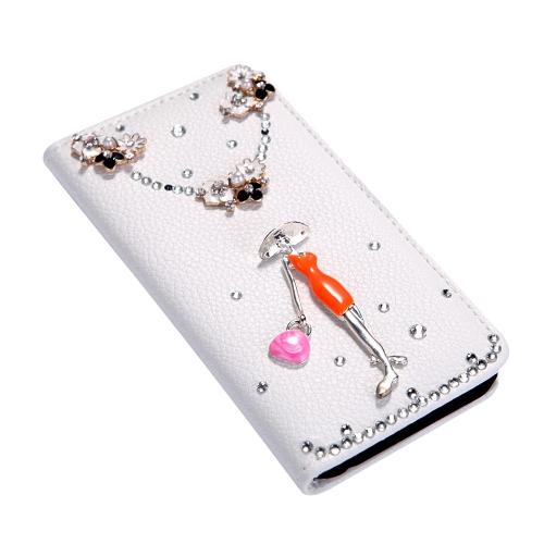 Flip-Bling flor carteira caso tampa de couro com Stand titular do cartão para o Apple iPhone 6