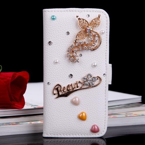 Housses et étuis de Téléphones Portables En Cuir Flip Brillant Clignotant Etui Portefeuille Couvercle Avec Stand Card Holder pour Apple iPhone 6