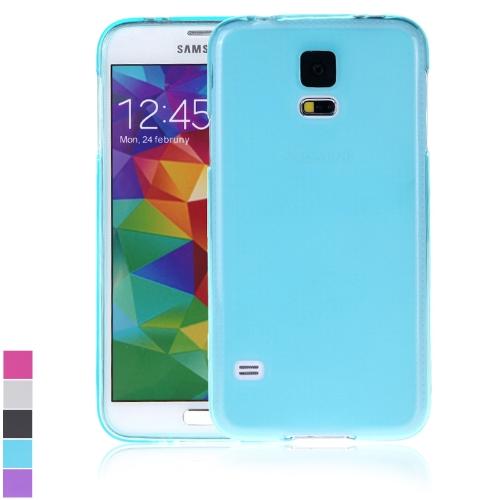 TPU retour cas couvrir coque de protection pour Samsung Galaxy S5 i9600 bleu