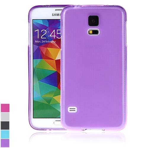 TPU volta caso cobrir casca protetora para Samsung Galaxy S5 i9600 roxo