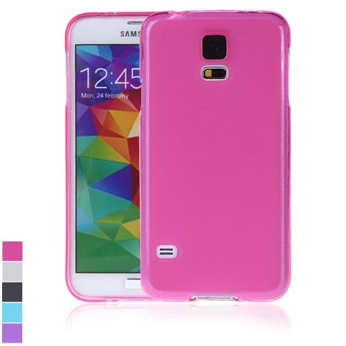 TPU volta caso cobrir casca protetora para Samsung Galaxy S5 i9600 Rose