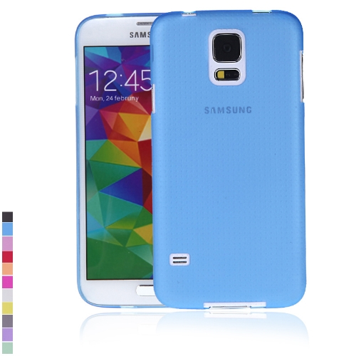 Ultra-thin PC Protective Back Case Cover Shell for Samsung Galaxy S5 i9600 Blue