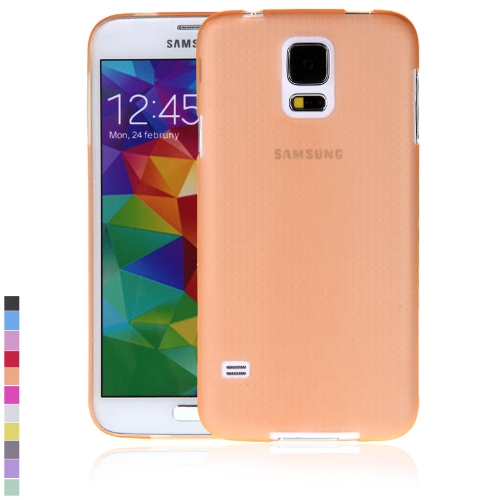 Ultra-fina PC volta caso cobrir casca protetora para Samsung Galaxy S5 i9600 laranja