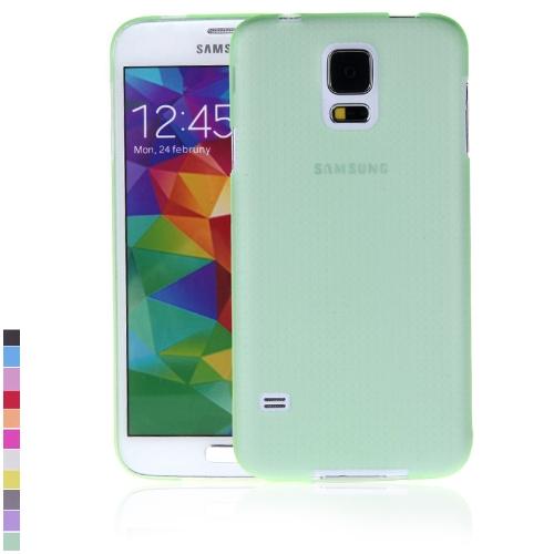 Ultra-fina PC volta caso cobrir casca protetora para Samsung Galaxy S5 i9600 verde