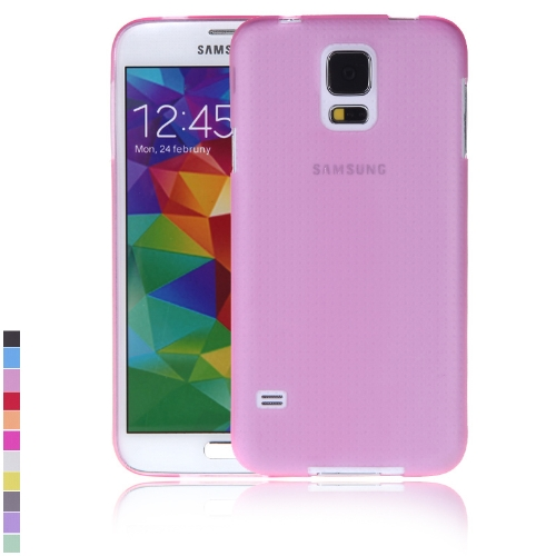 Ultra-fina PC volta caso cobrir casca protetora para Samsung Galaxy S5 i9600 rosa
