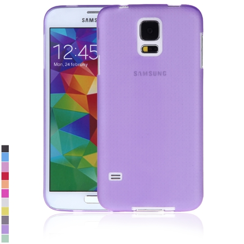 Ultra-fina PC volta caso cobrir casca protetora para Samsung Galaxy S5 i9600 roxo