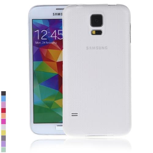 Ultra-fina PC volta caso cobrir casca protetora para Samsung Galaxy S5 i9600 branco