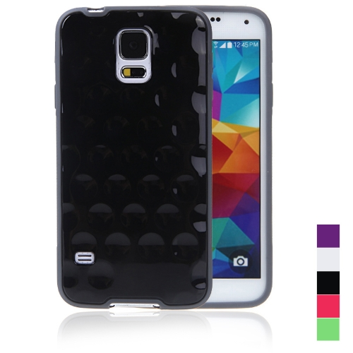 TPU Protective Back Case Shell Cover for Samsung Galaxy S5 i9600 Black