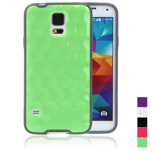 TPU Protective Back Case Shell Cover for Samsung Galaxy S5 i9600 Green